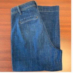 Talbots High Waisted Wide Crop Jeans